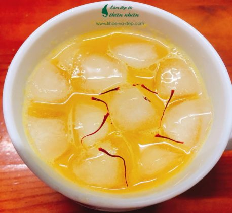 Mix nước cam với Saffron