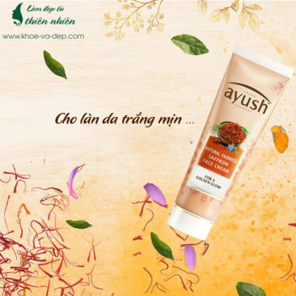 Kem dưỡng trắng da saffron Lever Ayush Ấn Độ