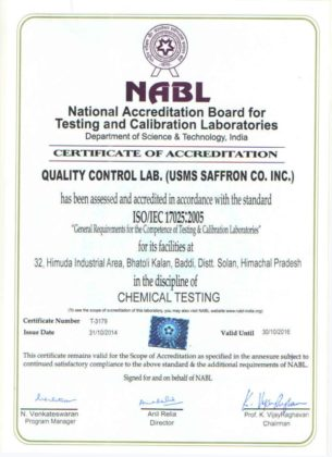 Công ty USMS Saffron Co. Inc. Ấn Độ